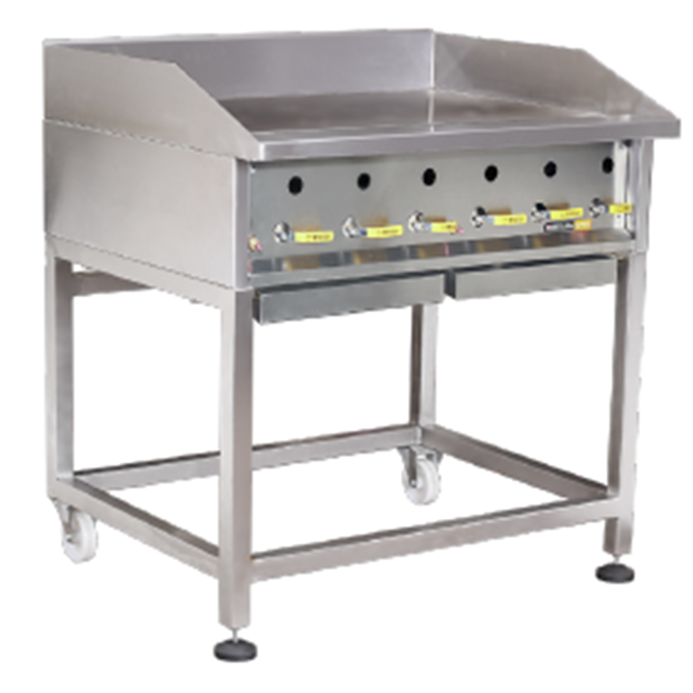 GRILLERS – Heavy duty – Solid Top – Gas – 900mm