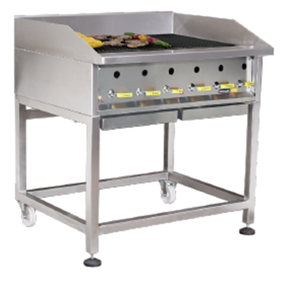 GRILLERS – Heavy duty – Radiant – Gas – 900mm